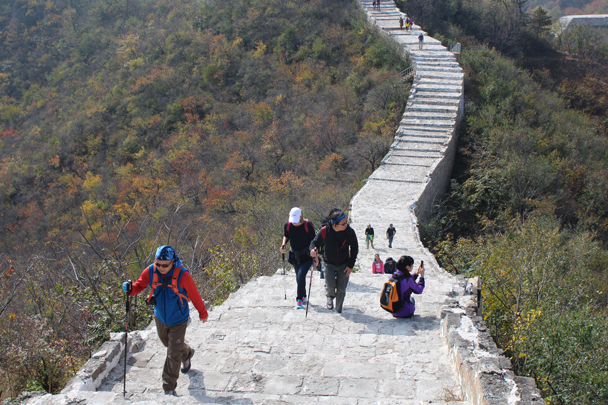 Looking back over the section we were climbing - Longquanyu and Little West Lake Great Wall, 2015/10/24