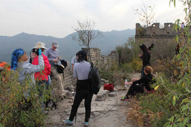 Made it! A long, tough climb - Longquanyu and Little West Lake Great Wall, 2015/10/24