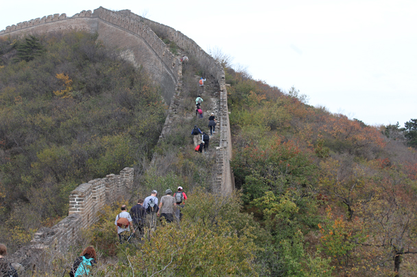 The hike continued along unrestored Great Wall - Longquanyu and Little West Lake Great Wall, 2015/10/24
