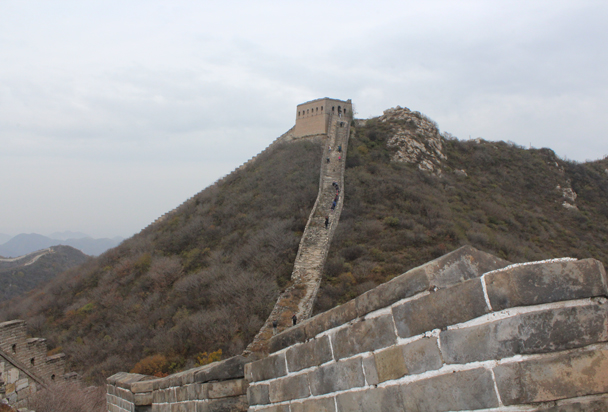 Hikes making their way up to the General's Tower, the highest point on the hike - Middle Route of Switchback Great Wall, 2015/10/25