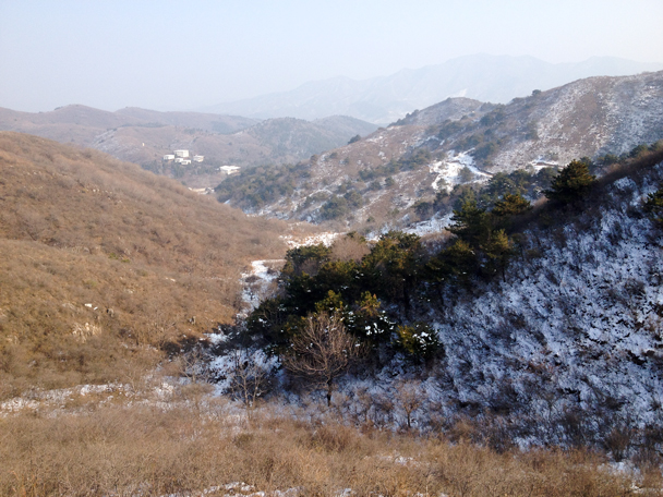 We finished the hike by walking out this valley - Rolling Hills hike, 2015/11/29