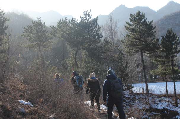 Hiking up to the Great Wall - Boxing Day Great Wall hike at Jiankou and Mutianyu, 2015/12/26