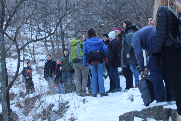 Taking a break on the way up to the wall - Boxing Day Great Wall hike at Jiankou and Mutianyu, 2015/12/26