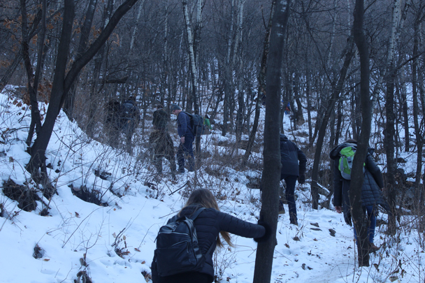 We continued up through the forest - Boxing Day Great Wall hike at Jiankou and Mutianyu, 2015/12/26