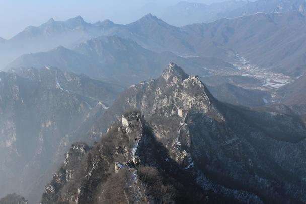The view from the top - spectacular! - Boxing Day Great Wall hike at Jiankou and Mutianyu, 2015/12/26