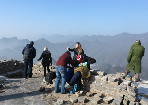 On top of the General's Tower at Jiankou - Boxing Day Great Wall hike at Jiankou and Mutianyu, 2015/12/26