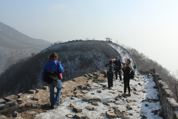 From here we hiked along the wall to Mutianyu - Boxing Day Great Wall hike at Jiankou and Mutianyu, 2015/12/26