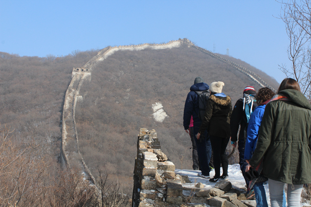 "The Great Wall here climbs steeply to a high point known as the ""Ox-Horn"" turn - Boxing Day Great Wall hike at Jiankou and Mutianyu, 2015/12/26"