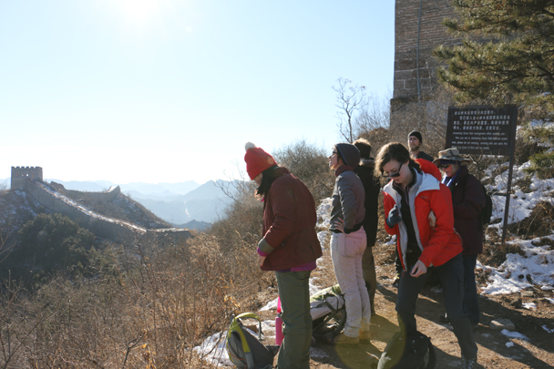 Arrived at the lookout point - Hemp Village to Jinshanling Great Wall, 2016/01/10
