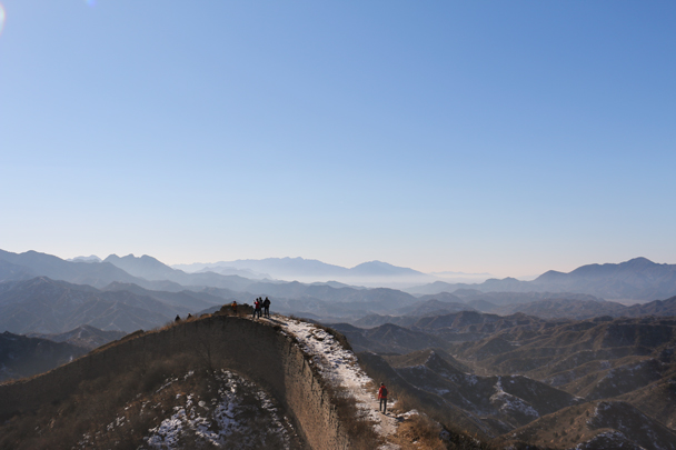 Great views today - Hemp Village to Jinshanling Great Wall, 2016/01/10