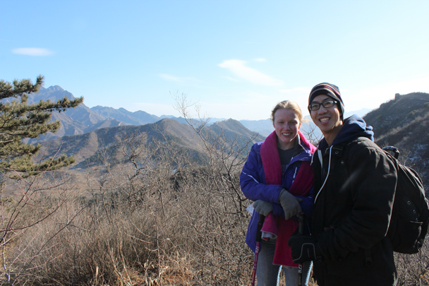 Back in the sunshine, and almost up on the Great Wall - Walled Village to Huanghuacheng Great Wall, 2016/01/13