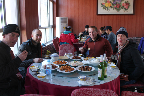 Tasty food at the local restaurant.  - Walled Village to Huanghuacheng Great Wall, 2016/01/13