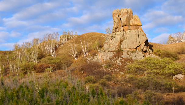 Rock outcrops near Rose Peak, Aershan, Inner Mongolia