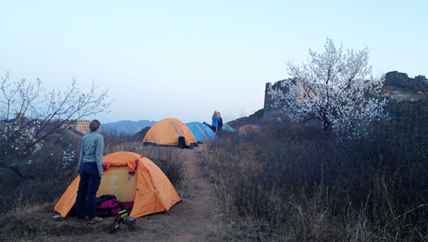 Camping by the Great Wall