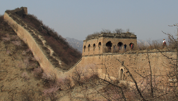 A stretch of the unrestored Great Wall at Zhuangdaokou