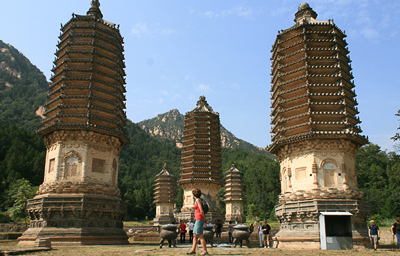 The pagodas at Silver Mountain