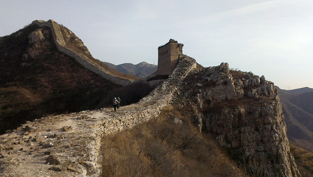 The Great Wall takes a turn at a craggy outcrop