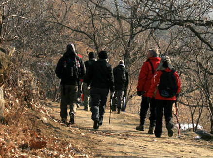 Dirt road, Beijing Hikers Triangle Hike, 2009-11-22