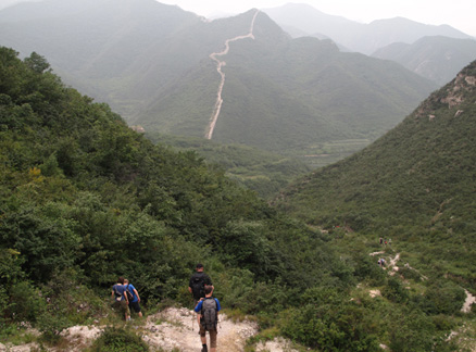 Deep valley, Beijing Hikers Brushrest Mountain Circuit, 2009-09-05