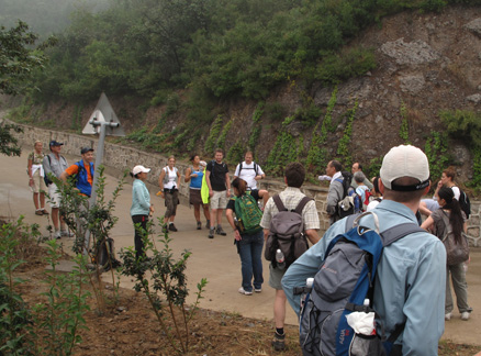 Fire break road, Beijing Hikers Walk Like a Pilgrim hike, 2009-09-19