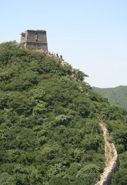 Descent from tower, Beijing Hikers Switchback Great Wall hike, 2009-06-28